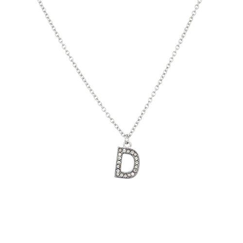 """Lux accessori cristallo Iniziale """"D collana Block lettera."""