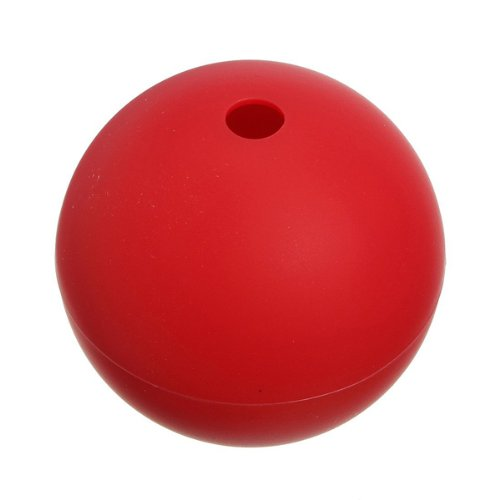 Foxnovo Portable Sphere Shaped Diy Silicone Ice Cube Tray Ice Ball Maker Mold Mould (Red) front-117904