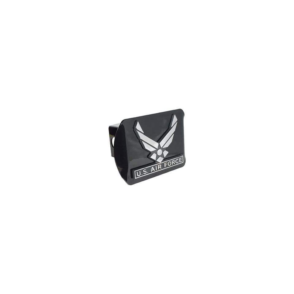 US Air Force Wings Black Metal Trailer Hitch Cover