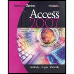 Marquee Series : MS Access 2007 - With CD