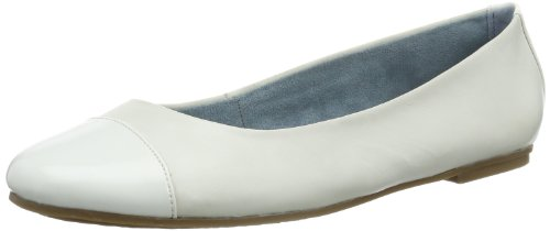 Tamaris Womens TAMARIS Closed White Weià (WHITE/WHT PAT. 110) Size: 6 (39 EU)