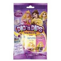 Disney Princesses Dig N Dips Candy Sticks 8 Pouches