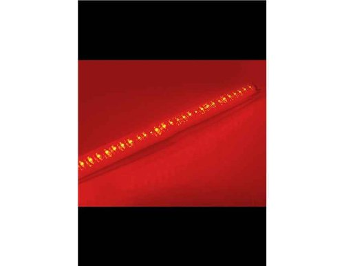 56 Cm Dc12V 48-Led Red Light Knight Rider Lighting Bar With 5-Key Remote Control (Black)