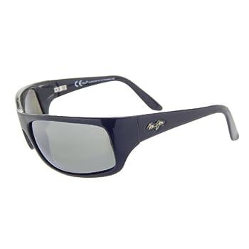 edca1514f62b New Maui Jim Peahi 202-02 Gloss Black Neutral Grey Polarized Lens 65mm  Sunglasses