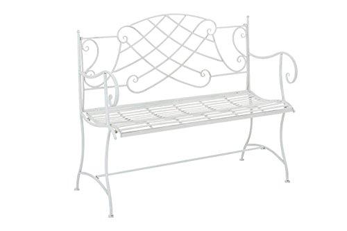 panchina-stile-romantico-zurich-ferro-109cm-colore-bianco-antico