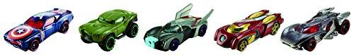Hot Wheels CFC93 - Avenger 5 Pack Contenente di 5 Personaggi, in Scala 1:64