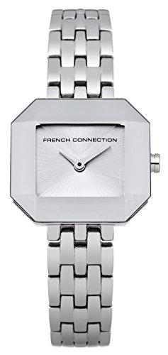 French connection it's_amaz-reloj analógico de cuarzo de acero inoxidable FC1153SM
