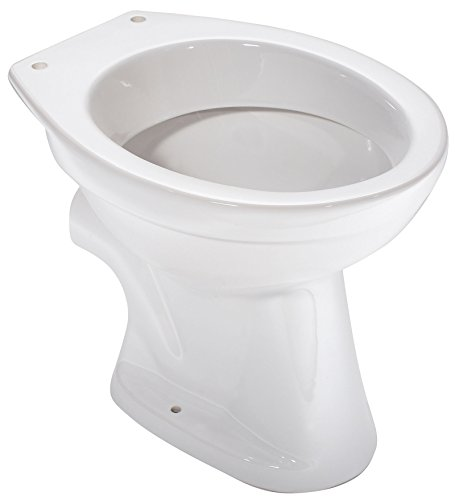 Stand-WC barCa Clean | Tiefspüler | Abgang waagerecht | Weiß | Mit spezieller Nano-Oberflächenstruktur | Hygiene | Bad | Badezimmer | Toilette | Klo | Gäste-WC | Keramik
