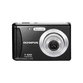 Olympus T-100 - Digital camera - compact - 12.0 Mpix - optical zoom: 3 x - supported memory: SD, SDHC - black