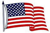 3x5 Inch American Flag Decal - Static Cling (2 decals included)