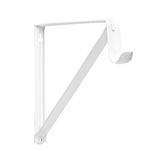 John Sterling RP-0045-WT Shelf And Rod Closet Bracket, White (Brackets Rod Shelf compare prices)