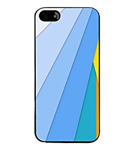 printtech Colored Lines Back Case Cover for Apple iPhone 5