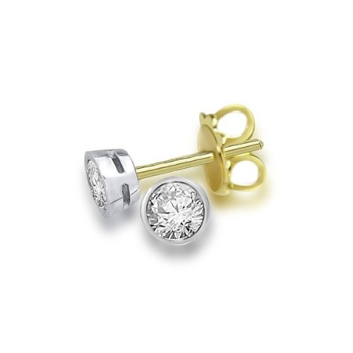 0.30ct G/SI1 Diamond Stud Earrings for Women with Round Brilliant Diamonds in 18ct Yellow Gold