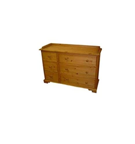 Wye Pine Traditional Side by Side Chest - Finish: Unfinished - Stain: Waterbased