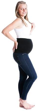 Damen Bauchband / Umstandsmode - Bauchgurt - verschiedene Größe (Schwarz, S)