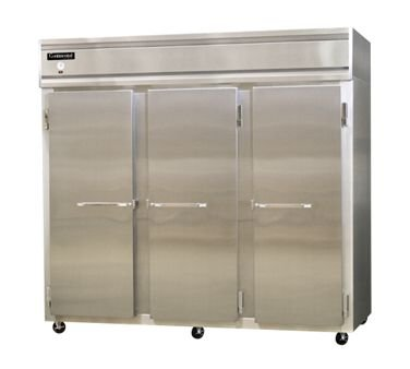 "Continental Refrigerator 3Fe-Lt-Ss 73"" Solid-Door Low-Temp Extra-Wide Reach-In Freezer"