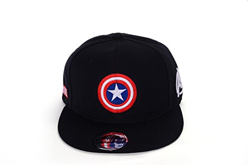 Marvel Avengers Captain America Shield Hat Baseball Cap US Seller (Black) (Captain America Bucket Hat compare prices)