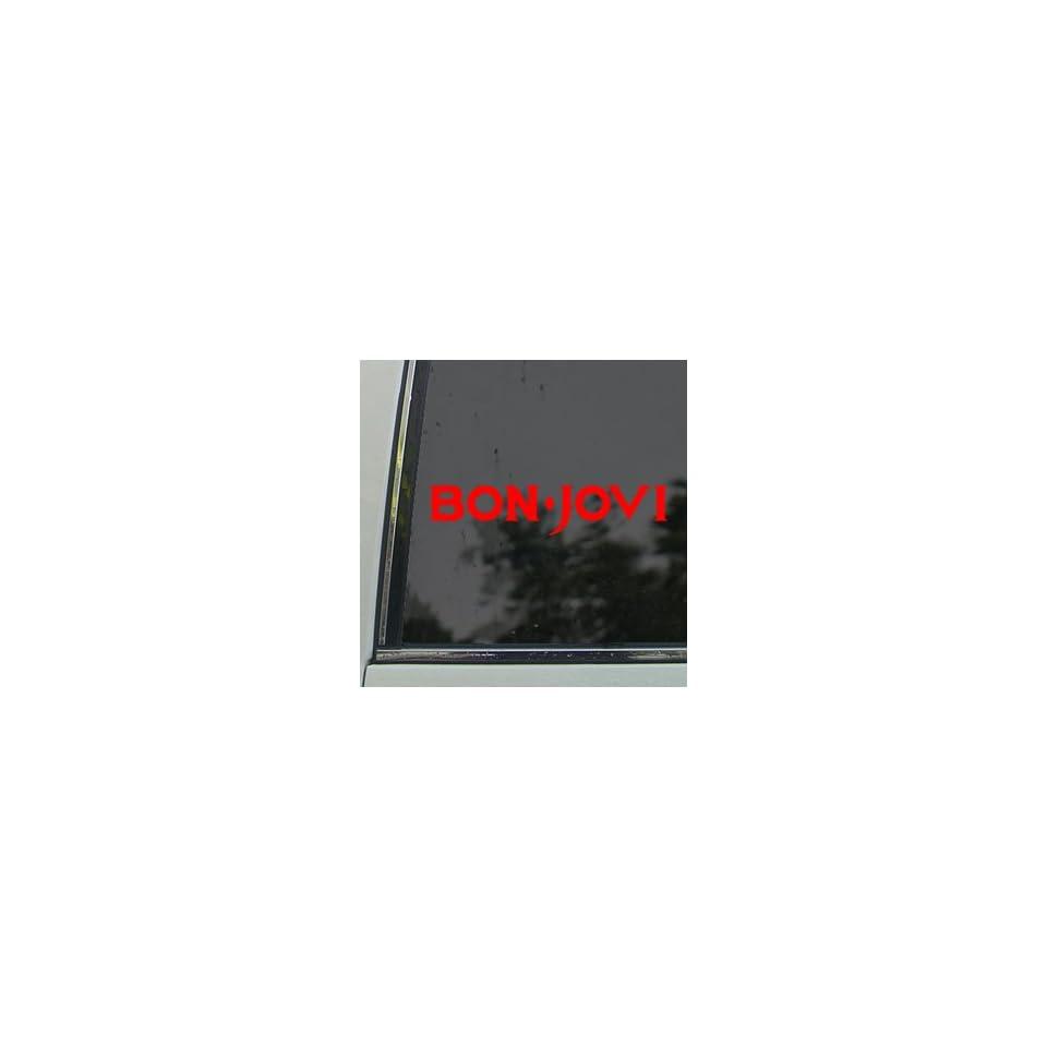 Bon Jovi Red Decal Jon Rock Band Truck Window Red Sticker