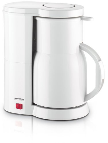 Overseas Use Only Severin Ka9243 White Coffee Maker Includes (Acupwr Tm Plug Kit Free!) Made In Germany front-371869