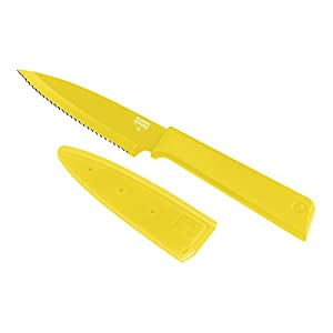 "Kuhn Rikon Colori+ Serrated Paring Knife, 4"", Yellow"