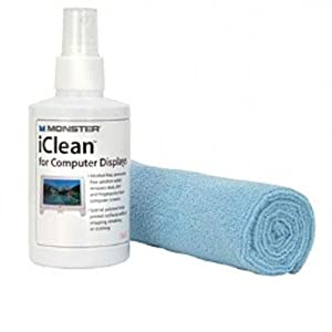 Monster Cable Ai Icln-L Iclean Screen Cleaner Microfiber Cloth Included Ammonia-Free