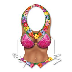 Pkgd Plastic Beach Babe Vest Party Accessory (1 count) (1/Pkg)
