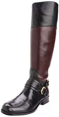 Ivanka Trump Women's Seneca Riding Boot,Black/Brown,5.5 M US