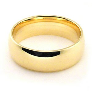 Men's 14k Yellow Gold 6mm Comfort Fit Wedding Band Ring ,Size 12.5