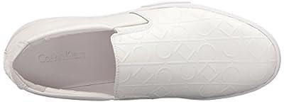 Calvin Klein Men's Ivo Brushed Ck Emboss Slip-On Loafer
