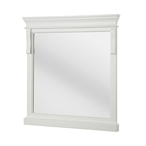 White Vanity With Mirror front-34316