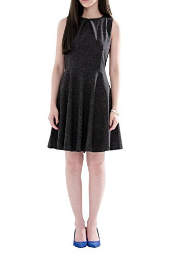 Everyday Elegance Women's A Line Business Casual Work Dress (Large, Dark Gray) (Sailor Outfit Ebay)