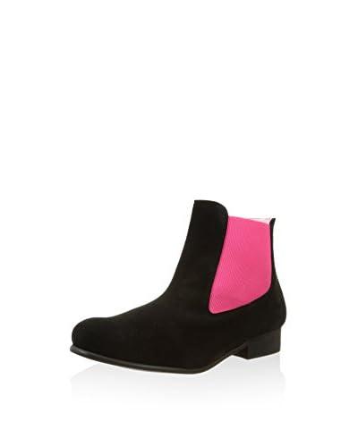 Bisue Chelsea Boot schwarz/pink EU 41