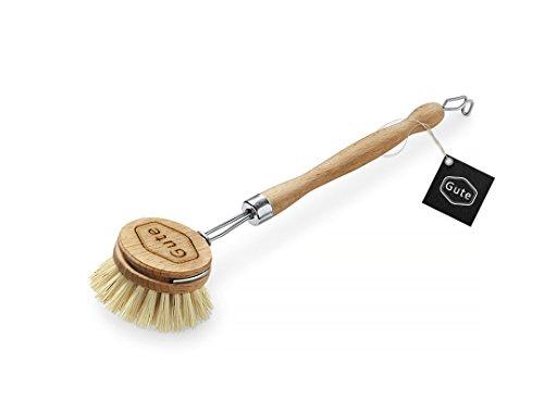 Gute Beautiful Soft Horsehair Bristle Dish Brush 2-inch Head, 7-1/2 Inch Long Beechwood Handle (Beechwood) (Horse Hair Scrub Brush compare prices)