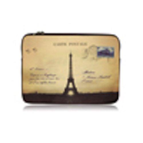 Espe French Vintage Laptop Sleeve Paris Eiffel Tower Postcard