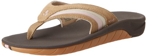 Brown Leather Flip Flops For Women front-695540