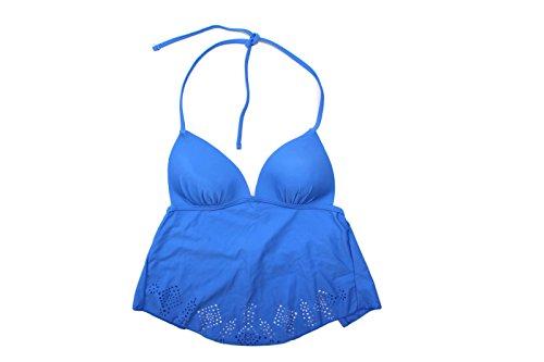 Arizona Women's Blue Shark Bite Tankini Swim Top Separates (Small, Periwinkle Blue)