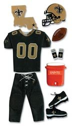 NFL TEAM UNIFORM 3-D Stickers NEW ORLEANS SAINTS - DISCONTINUED ITEM - For Scrapbooking, Card Making & Craft Projects