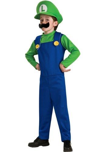 Luigi Plumber Mario Bros Kids Halloween Costume