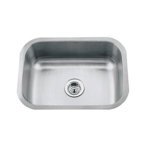 Proflo PFUC301 23 Single Basin Undermount 18 Gauge Stainless Steel Kitchen  Sink Stainless Steel