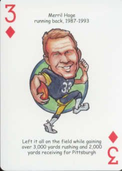 Merril Hoge - Oddball Pittsburgh Steelers Playing Card