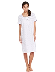 Floral Embroidered Nightdress