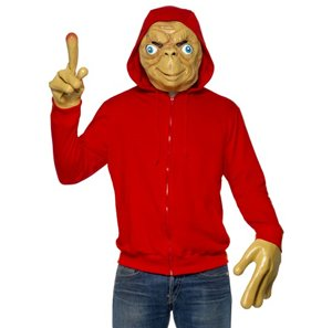 E.T.(TM) Adult Fancy Dress Costume (adult size). ET the Extra Terrestrial was one of the most memorable sci-fi films of the 1980s, and you'll be instantly recognisable in this costume. Just don't forget to phone home while you're out!