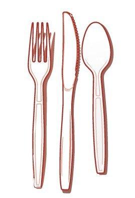 Fineline Settings 51-Piece Extra Heavy Combo Cutlery, White