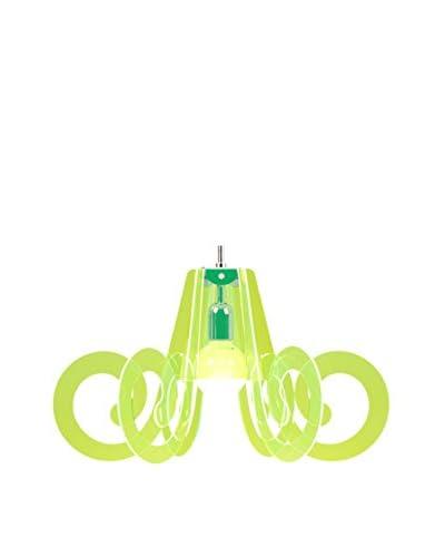 Emporium Lámpara De Suspensión Ricciolino Green Fluo Verde Flúor