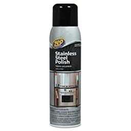 Zep Commercial - 4 Pack - Stainless Steel Polish 14 Oz Can \