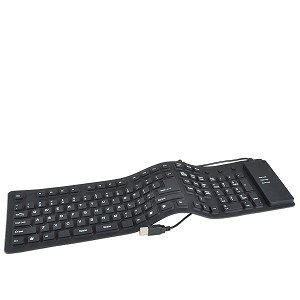 Adesso Flexible Full-Sized Keyboard - USB and PS/2