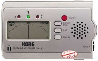 Korg Guitar Bass Tuner With Batteries GA30