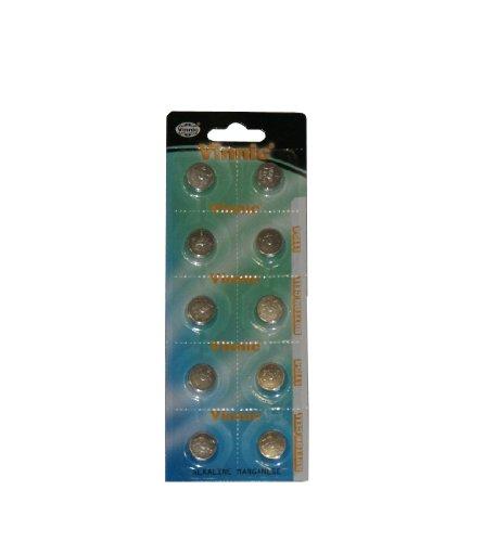 V0-10 x AG13/LR44/GPA76/L1154 Piles bouton/RW82