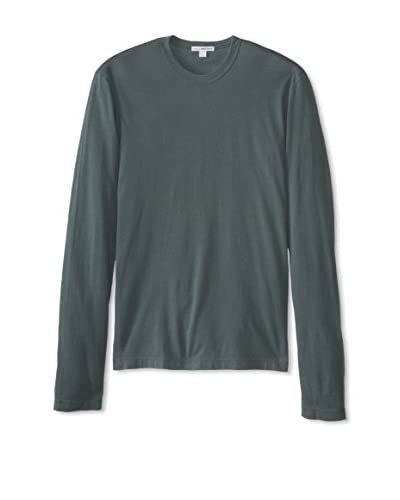 James Perse Men's Long Sleeve Crew Neck Shirt