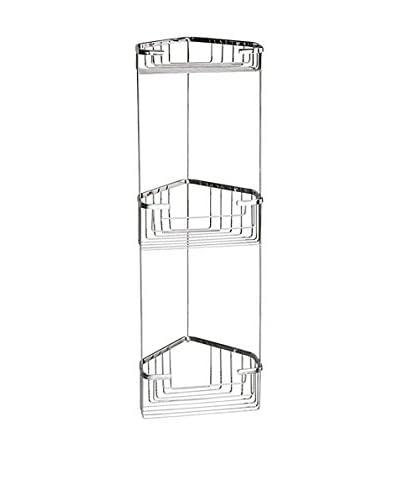 Nameek's Wire Corner Shelf With 3 Baskets, Chrome